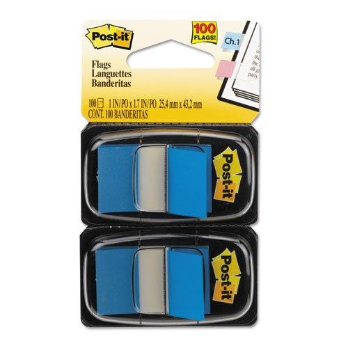 Post-it Flags - Standard Tape Flags in Dispenser Blue 100 FlagsDispenser 680-BE2 DMi PK
