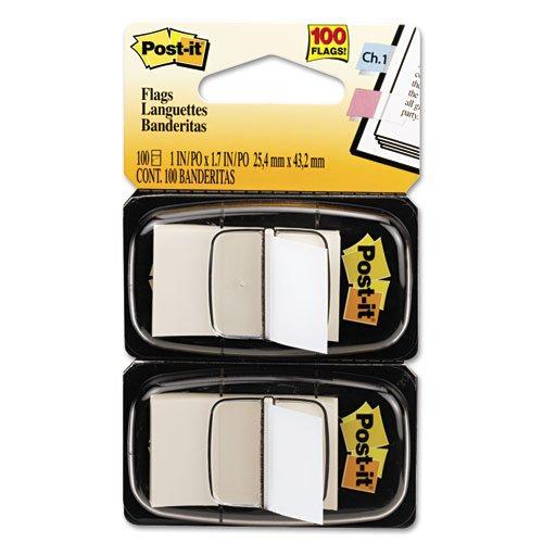 Post-it Flags - Standard Tape Flags in Dispenser White 100 FlagsDispenser 680-WE2 DMi PK