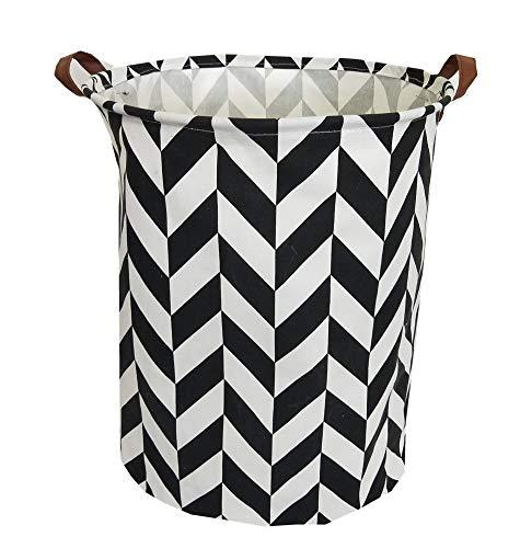 TIBAOLOVER 197 Large Sized Waterproof Foldable Laundry Hamper BucketDirty Clothes Laundry Basket Bin Storage Organizer for Toy CollectionCanvas Storage Basket with Stylish Design(Black Diamond)