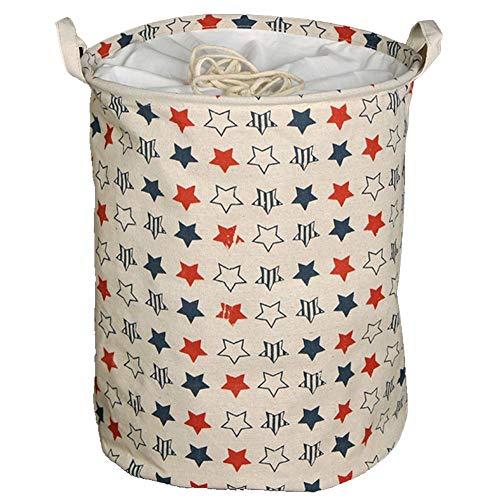 Waterproof Foldable Laundry Hamper Organizer EZVING Storage Bin Home Organizer Baby Hamper Clothes Toys Storage Bin Large Round - 177x137 Colorful Star