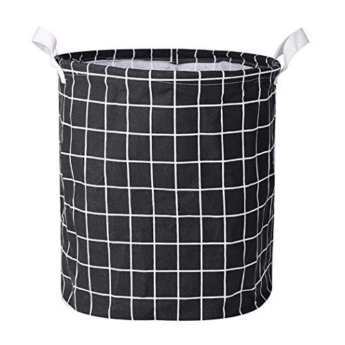 kouye- Laundry Basket Cotton Linen Storage Bin Folding Laundry Clothes Basket Organizer Shelf Baskets