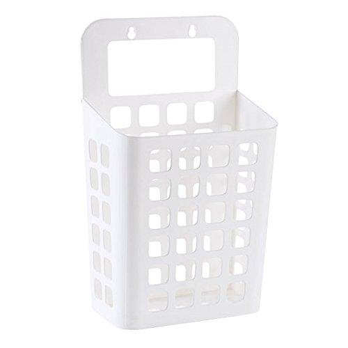 DZX Bathroom Laundry Basket Plastic Portable Toy Bucket Desktop Simple Mini Storage Basket whiteBeigeGrayWhite