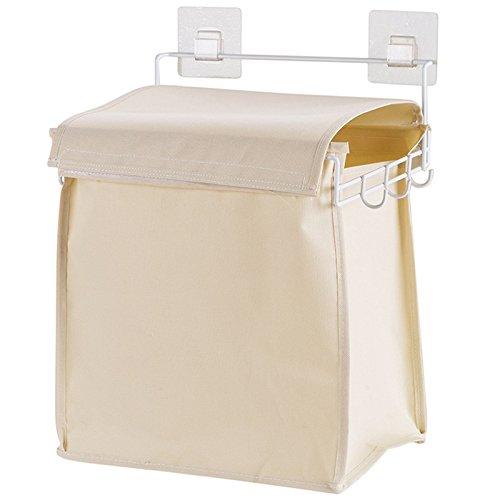 WPSNL Hanging Laundry Basket Oxford Hamper Bathroom Laundry Basket Dirty Clothes Basket Storage Hamper