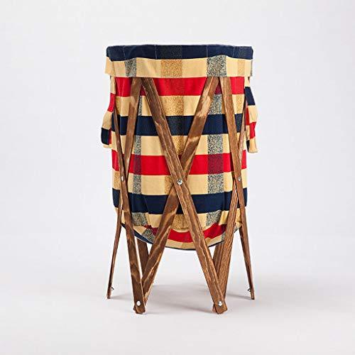 XXHDEE Change Clothes Basket Storage Basket Fabric Large Bathroom Laundry Basket Bedroom Folding Hamper Household 42x70cm Dirty Hamper Color  Baked Color
