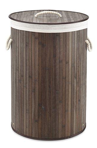 Whitmor Laundry Hamper with Rope Handles Bamboo 1625x23375 Dark Stain