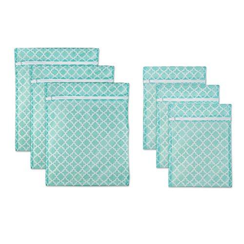 DII Set of 6 Mesh Laundry Bags for Delicates Bra Underwear Hosiery Stocking Lingerie Travel Storage and Closet Organization - 3 Large 3 Medium