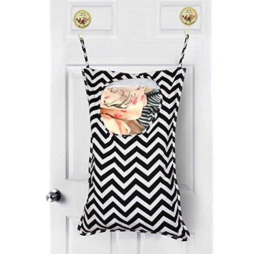 Amerzam Door-Hanging Laundry HamperLaundry BasketLaundry Bag For Bedroom Nursery Dorm or Closet Black