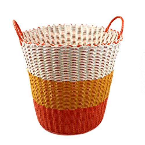 Battletter Clothes Basket Laundry Basket Toys Basket Multicolored Choices Large size43x41x35cm1693x1614x1378inches orange
