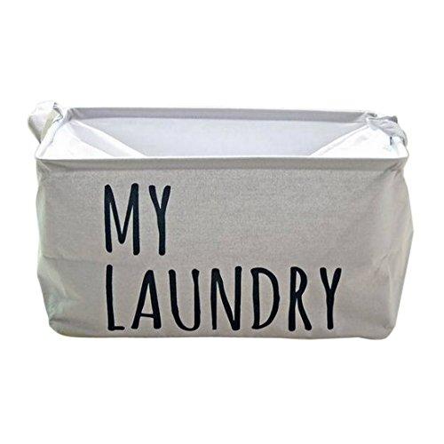Hoomall Grey Folding Large Square Laundry Hamper Storage Basket Storage Bag Toy Storage Easy Storage 46x32x25cm