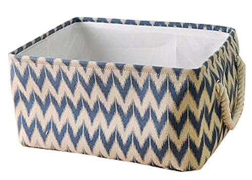 Square Laundry Hamper Basket Collapsible Storage Boxes Storage Bins Blue