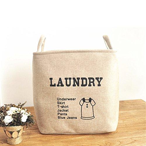 Mofeng Laundry Hamper Basket Storage Bin Cotton Canvas Laundry Bag