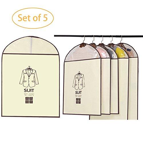X cool 5PCS Nonwoven Cloth Dustproof Garment Covers Clothes Storage Closet 23x35 inch