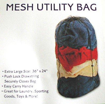 Mesh Utility Blue Laundry Bags 36 x 24 -THREE PACKS