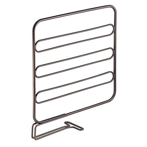 InterDesign Classico Wire Shelf Divider Closet Organizer for Clothing Storage - Set of 2 Bronze