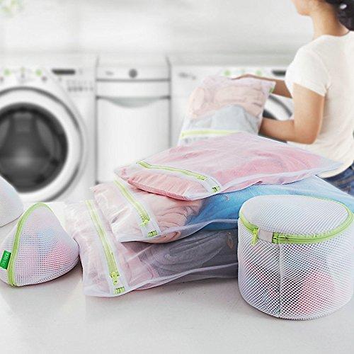 VshareLaundry Mesh Wash Bag Delicates Wash Bags for Washing Machine Dryer Lingerie Washer Baby Clothes Underwear Organizer