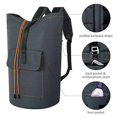 ZERO JET LAG 70 L Extra Large Laundry Bag Heavy Duty Backpack with Straps Pockets Hanging Laundry Hamper College Essentials Storage Basket Storage Bag Dorm HomeDark GreyXL