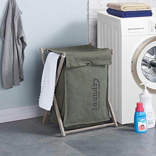 Danya B Army Canvas Folding Laundry Hamper