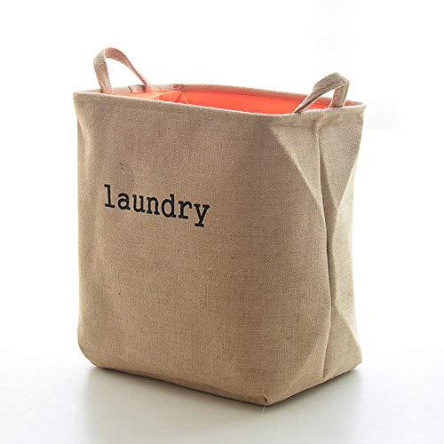 LIBOYUJU Storage Box Thick Jute Lined Dry Cleaner Portable Laundry Basket Household Laundry Basket