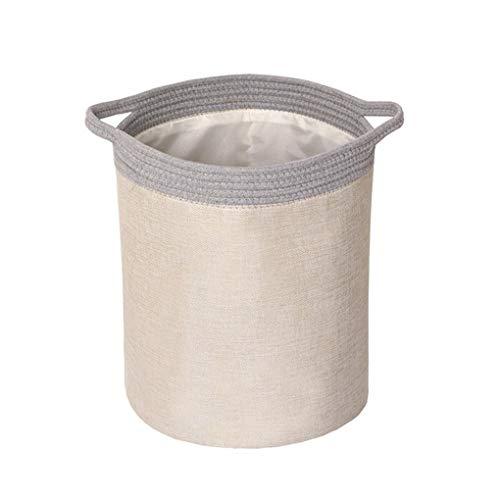 Portable laundry basket Storage Baskets Storage Bins Imitation Cotton and Linen Buckets Folding Multifunctional Bathroom Storage Bins Color  Khaki Size  3338cm
