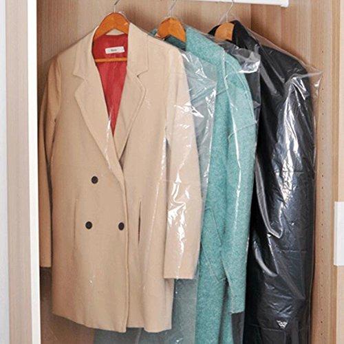 40pcs Dust Cover Garment Storage Organizer Bag Wardrobe Hanging Clothes 40pcs