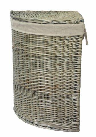 Antique Wash Large Corner Laundry Basket by Red Hamper