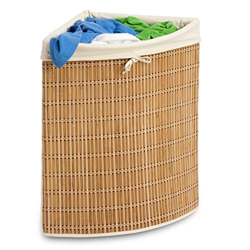 Honey-Can-Do HMP-01618 Wicker Corner Hamper Clothes Organizer