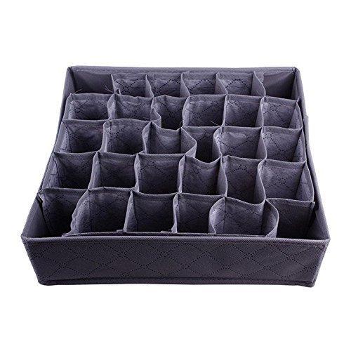 Stylish useful 30 Cell Bamboo Ties Box Closet Divider Drawer Wardrobe Closet Organizer Storage
