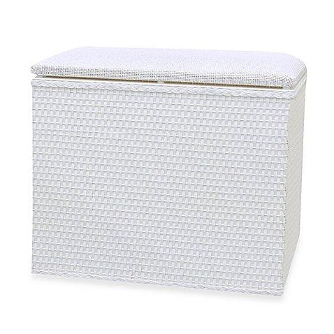 """Lamont Homeâ""""¢ Barrington Bench Hamper in White"""