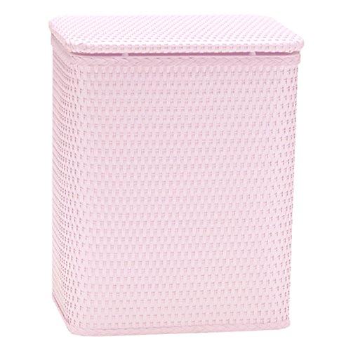 Redmonusa Redmon for Kids Chelsea Pattern Wicker Nursery Hamper Crystal Pink