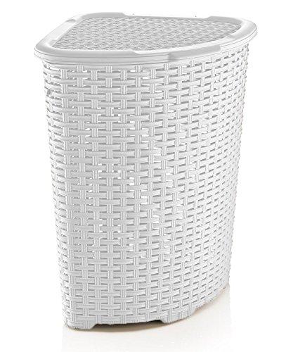 Rattan Wicker Style Corner Laundry Hamper 147 Bushel  52 Liter