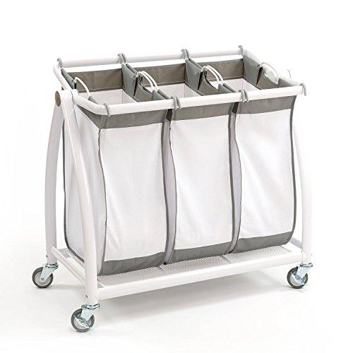 Tilt 3-Bag Laundry Sorter in Snow White 3-Bag Tilt
