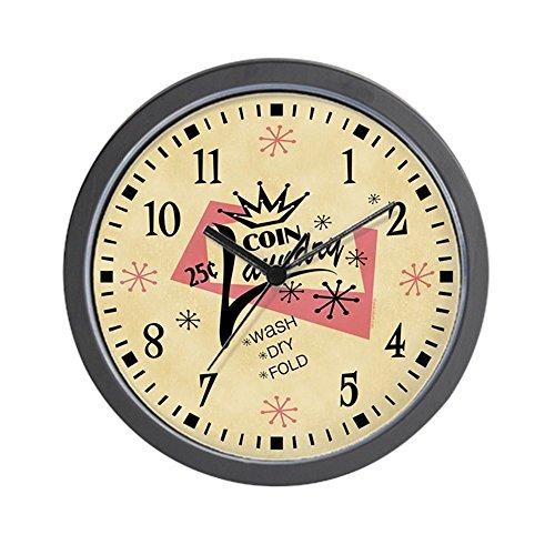 CafePress - Coin Laundry Wall Clock - Unique Decorative 10 Wall Clock