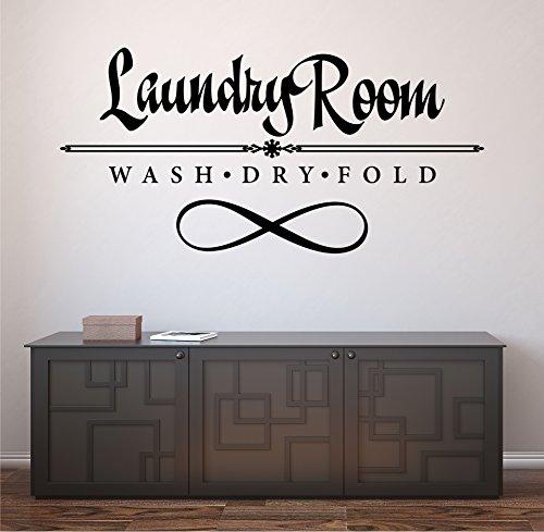 Laundry Room Wash Dry Fold 24 X 12 Vinyl IndoorOutdoor Wall Decal