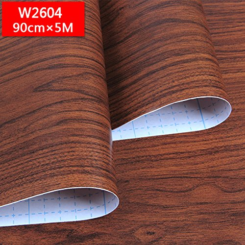 BABYQUEEN Self-Adhesive Pvc Wall Paper Wood-Grain Paper-Compartment Door Closet Furniture Renovated Wood Thick Wall Paper B 095m