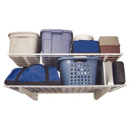 Wall Storage Shelf - Set of 2 Space Saving Storage Shelves 24 x 48 in Laundry Room and Closet Furniture Made of Steel Indoor Furniture Adjustable Shelves Wall Shelf Unit Shelving BONUS e-book