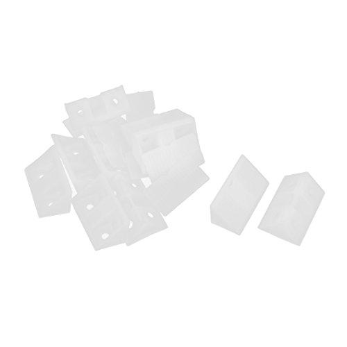 uxcell Shelf Closet Furniture Plastic Corner Braces Angle Bracket White 10pcs