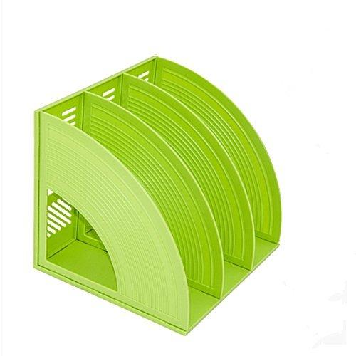 AUCH Creative Plastic MagazineBook File Organizer StorageBookends FrameDesktop File Box Good for OfficeGreen