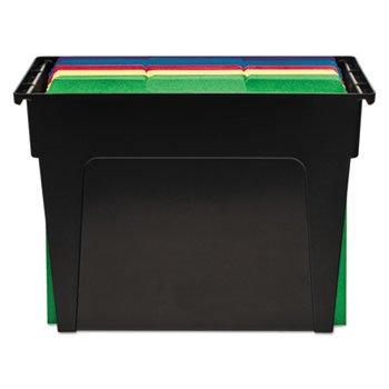 Desktop File Box Plastic 5 12 X 13 X 9 58 Black Letter