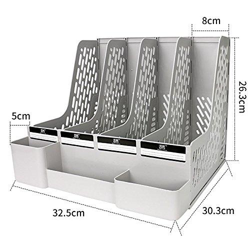 jlysheng Plastic materials desktop file box organizer in-basket thick file holder