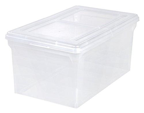 IRIS Split-Lid Letter Size File Box 5 Pack Large Clear