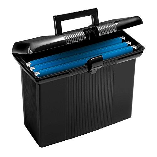 Oxford Portfile Portable File Box Black 11 x 14 x 6-12 Inches 41732