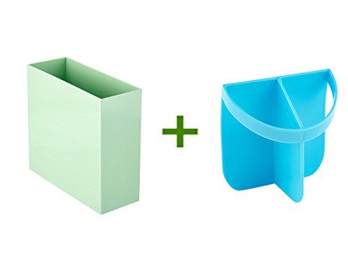 Mint Poppin Hanging File Box Urbio Shorty Insert Blue