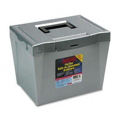 Pendaflex 20862 Portable Letter Size Hanging File Box 13-78w x 10-34d x 10-14 Steel Gray