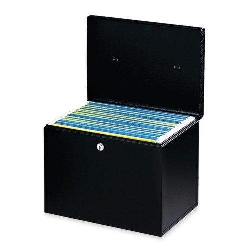 Wholesale CASE of 5 - Buddy Hanging File Box-Hanging FileLock w2 KeysFLetter13-12x10x10-78BK