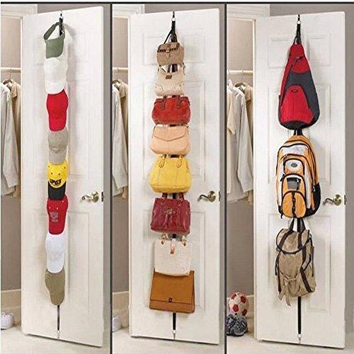 2PCS Adjustable straps for a door hanger Hat Bag Hanger Holder organizer hooks  towel Home Storage Organization Hooks