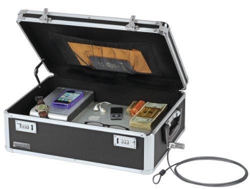 Vaultz Locking Storage Box 6 x 18 x 13 Inches Black VZ00260