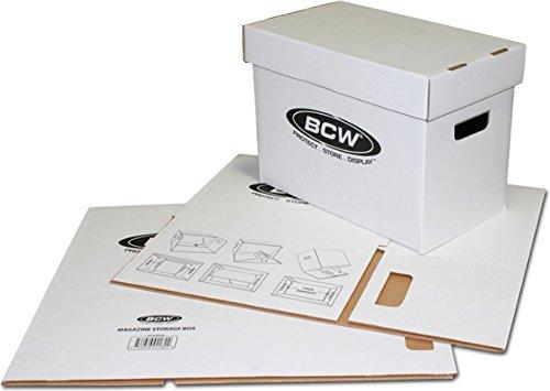 BCW Magazine Cardboard Storage Box - Bundle of 10 Collecting Supplies