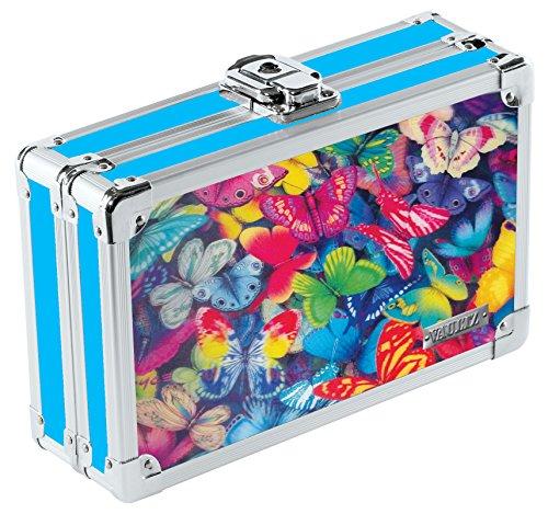 Vaultz 3D Lenticular Locking Pencil Box 55 x 825 x 25 Inches Butterflies VZ00291