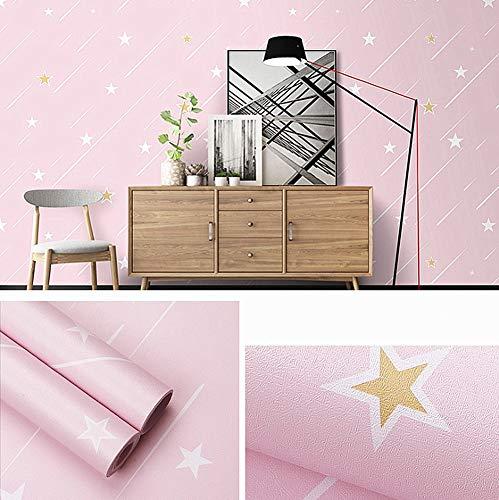Amao 177x79 Pink Star Self Adhesive Wallpaper Removable for Girls Bedroom Nursery Room Shelf Drawer Liner Paper Sticker