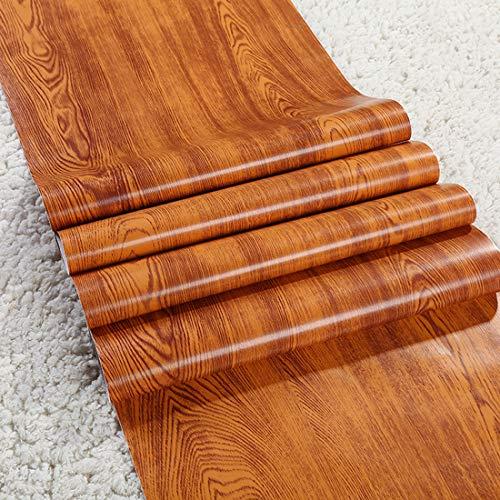 Glow4u Faux Oak Wood Grain Contact Paper for Cabinets Countertops Decorative Self Adhesive Vinyl Film Laminate Shelf Drawer Liner 177x117 Inches